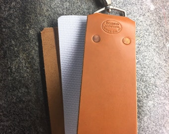 2.5 inch wide Barber's Strop with American Bridle leather