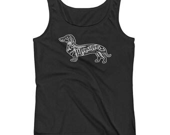 Dachshund Mama Cotton Tank • Dox Doxie Weenie Dog Wiener Dog Sausage Dog Womens Shirt Tank Top Clothes Clothing Apparel