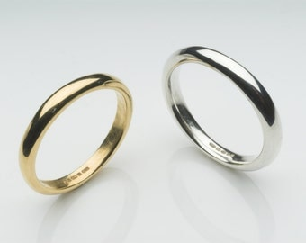 Organic Shape 18 ct gold wedding band - unisex gold wedding ring - commitment wedding promise ring - Gilbert D wedding ring - Father's Day