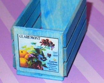 Dollhouse Miniature Blue Crate