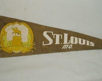 Vintage Pennant, St Louis, Mo.  Forest Park