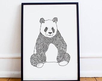 A1 Panda Art Print | Animal Poster