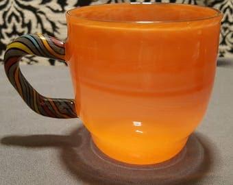 Orange Crayon Borosilicate Coffee Mug - 8oz