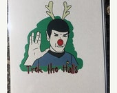 CYBER MONDAY SALE Star Trek Spock Holiday Card