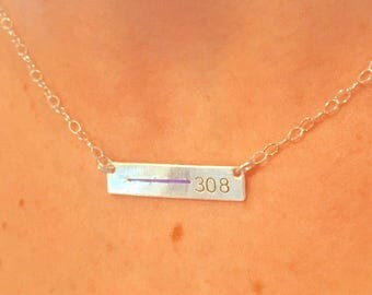 Thin Blue Line Personalized Bar Necklace, Firefighter, Police Wife Necklace, Law Enforcement Necklace, Badge Number, Blue Lives Matter