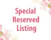 Special Reserved Listing for Carol