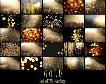 New Year Overlay, Gold Overlays, New Years Eve Overlays,  Bokeh Overlay, Light Overlays