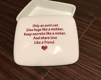 Best Gifts for Aunts | Keepsake Box | Gifts-for-Aunts | from Niece Gift handmade ceramic from my Charleston, SC studio