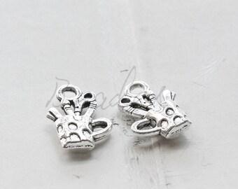 20pcs / Pen Holder / Oxidized Silver / Base Metal / Charm 18.7*11.7mm (X150//H407)