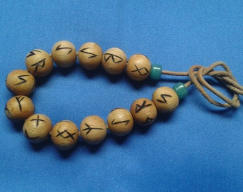 Rune bead bracelet for power and contemplation!