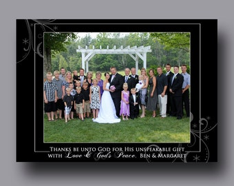 Custom - Photo - Christmas Card - Thanks Be Unto God, Christmas Photo Card, Holiday Photo Card - (JPEG Digital File) - You Print