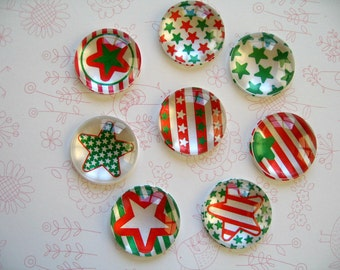 Christmas Holiday Magnets, Red Green Holiday Magnet, Home Decoration Magnets, Style 2