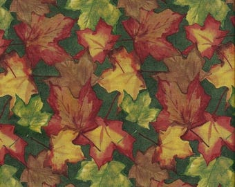 CLEARANCE! Beauty of Autumn, South Sea Import, Leaves, 1/2 Yard