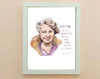 Eleanor Roosevelt, inspiring women, inspiring quote, Courage