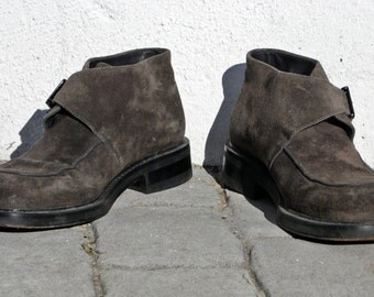 KENZO suede shoes ankle boots brown leather shoes metal buckle boots brown leather boots metal buckle shoes suede shoes