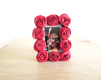 3rd Anniversary Gift - Black  leather flowers - leather Mini Roses -gold fish tank ,hearts  love, bird love -leather decoration