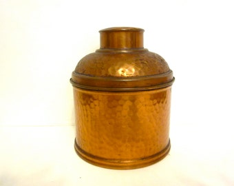 Antique hammered Revere copper humidor, vintage tobacciana, Revereware