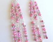 Dangle Pink Earrings - Custom Order