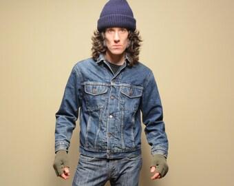 vintage 80s Gap denim jacket plaid flannel lining Buffalo check lined 1980 Gap jean jacket winter jacket small S