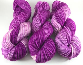Oscar Worsted, Hand Dyed Yarn, Worsted weight, number 4, 10 ply, medium weight, hand dyed, HauteKnitYarn, Yarn, Party Perfect