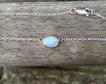 Sterling Silver birthstone Pendant handmade birthday gift silver jewellery