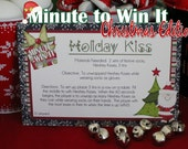 Minute To Win It Christmas Edition Printable - Holiday Party, Classroom Party Christmas Party INSTANT DOWNLOAD