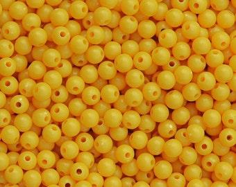 6mm Round Golden Yellow Beads 500pc