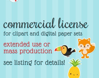 Commercial Use License for Clipart Sets or Digital Paper Sets from mycutelobster