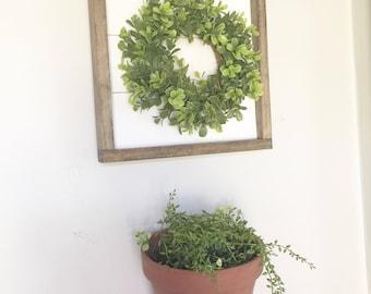 Shiplap wreath sign, farmhouse wreath, farmhouse sign, entryway sign, fixer upper, home sign, gallery wall sign, shiplp sign