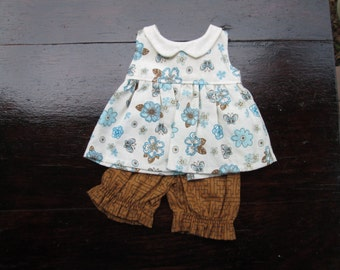 SALE Doll Clothes Girl, hand made Dress and Bloomers, fits 12 inch Waldorf style dolls