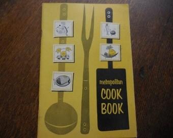 Vintage 1960s Metropolitan Life Insurance Co. Cook Book Soft Cover Small 1964 Retro Recipes