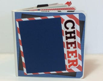Cheerleading scrapbook chipboard premade pages brag book love to cheer