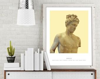 Apollo   Portrait of Apollo, Apollo Bust, Apollo Photo, Apollo Art Print, Modern Home Decor, Bust Print, Apollo Portrait, Bust Decor, Apollo