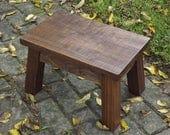 """rustic walnut stool 16"""" x 10"""" x 12"""" high"""