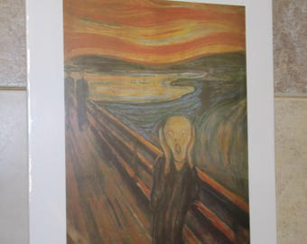 The Scream print by Edvard Munch in white mat print 12x16 inches mat 16x20 inches