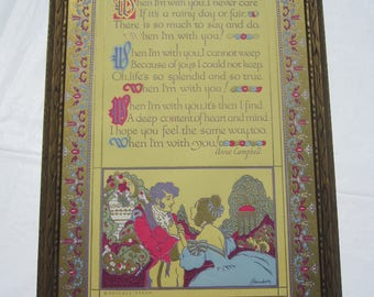 Vintage Verse ''When I'm With You'' Framed Print