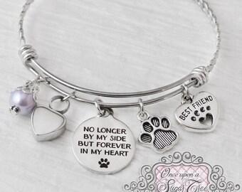 PET Cremation Jewelry, URN BRACELET, Cremation Bracelet- Loss of Pet Bracelet, Remembrance,No Longer by my side, Bereavement