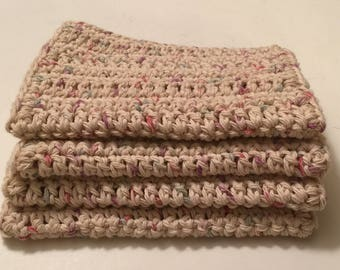 4 Large dish cloths/ dish rags/ wash cloths made with 100% cotton yarn | Panorama