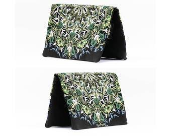 Lotus Mandala Wallet, Fold Over Purse, Glow In The Dark, Wallet Pouch, Psychedelic Gift, Girlfriend Gift, Boyfriend Gift