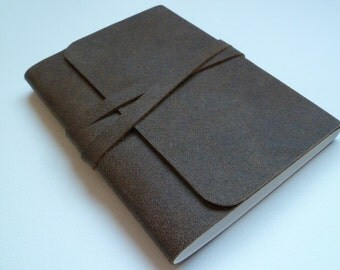 Leather Sketchbook Leather Journal Travel Journal Brown Leather with a Speckled Distressed Antique Finish.