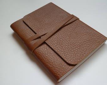 Journal Leather Sketchbook Travel Journal Leather Journal Leather Notebook. Tan Grained Leather.