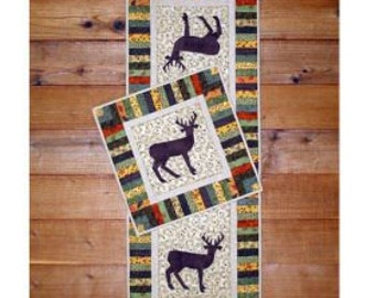 Table Runner Pattern , Applique Quilt Pattern, Deer Quilt Pattern, Table Topper Pattern , Wall Quilt Pattern, Deer  Pattern,  PATTERN ONLY