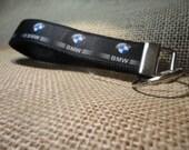 BMW Ribbon on webbing, Key Fob or Key Chain