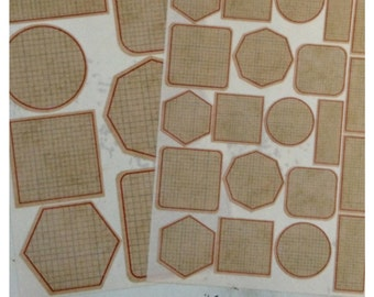 Vintage Graph Adhesive Label Stickers or Tags Choose size