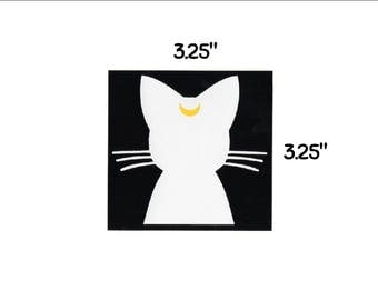 Artemis cat - sticker opaque decal anime moon girl fun fandom bumper sticker laptop decal