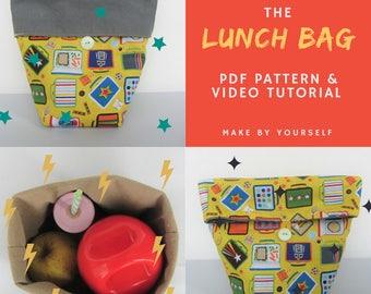 Lunch bag - PDF Pattern & Video Tutorial