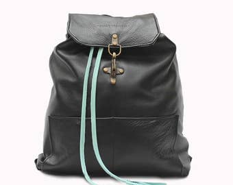 ANDAMAN Leather Backpack, Handmade Leather Rucksack, Handcrafted Leather Backpack, Backpack for Women, Backpack for Men.