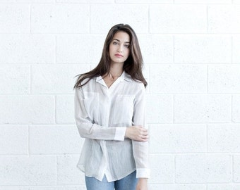 Pre Winter Sale 15% Buttoned Eyelet Shirt