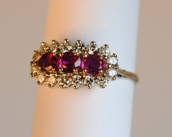 18kt .50ctw.Ruby and .48ctw Diamond Ring