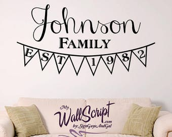 Custom Family Established, Entry way wall graphic